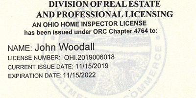 Ohio Home Inspector License